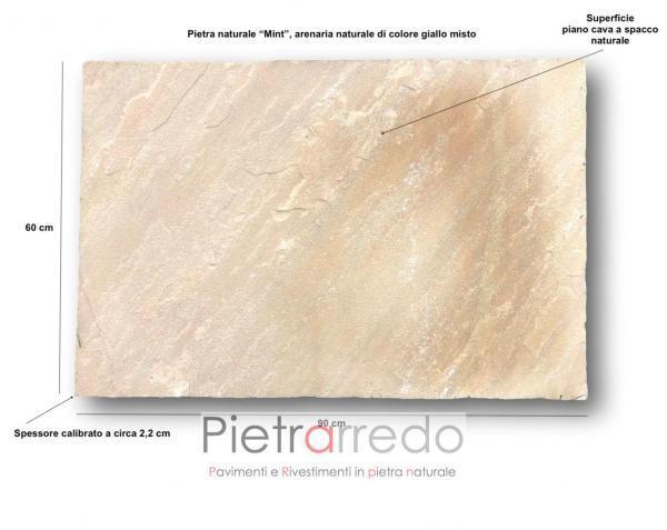 piastrelle in pietra arenaria mint calibrata 60x90 prezzo pietrarredo milano costo