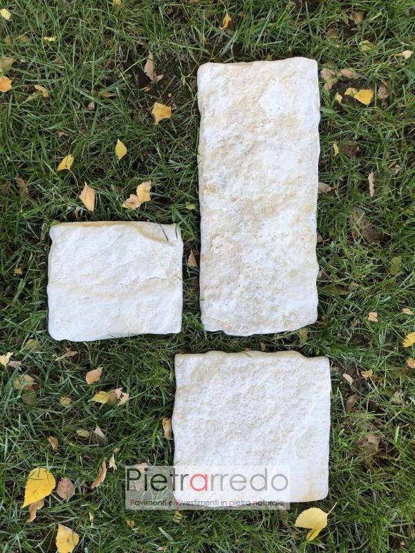 placche decorative in sasso naturale chiaro anticato offerta e prezzo pietrarredo milano bianca