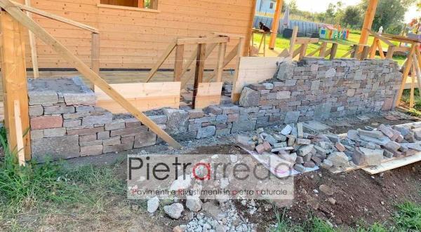 prezzo barbeque muro in sasso pietra grezza pietrarredo milano costo offerte senza fuga