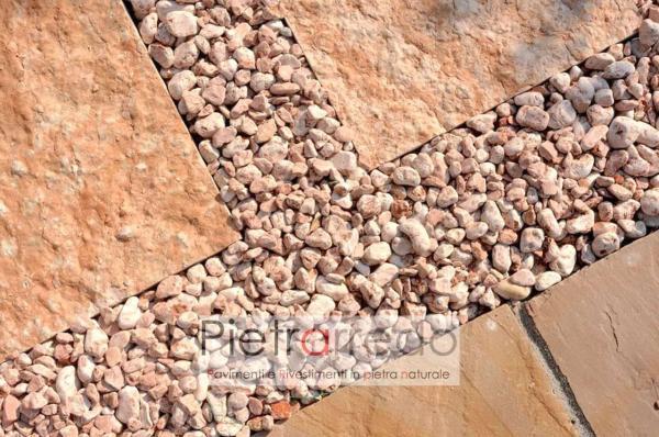 prezzo ciottolo granulati zandobbio stone city rosso verona rosa pietrarredo milano offerte pietra per aiuole prato