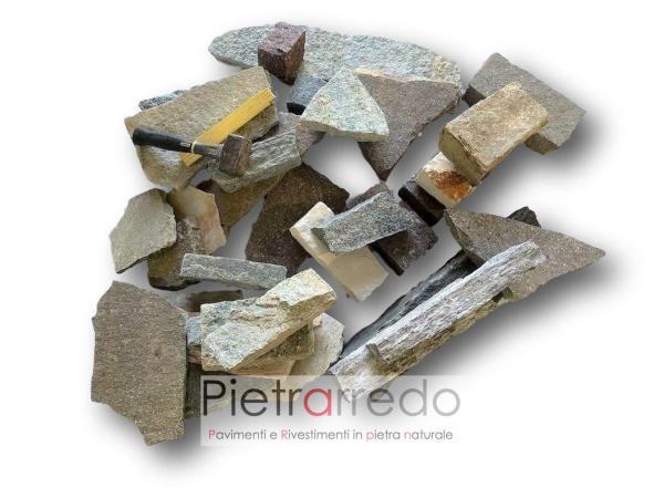 prezzo e costi rivestimento pietra naturale posa a secco fugata costo pietrarredo milano