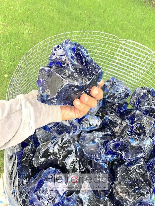 prezzo vetro decorativo per arredo giardino colore blu per riempimento gabbie granulati da giardino prezzo stone garden pietrarredo costo