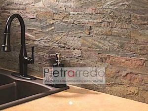 rivestimento in pietra a listelli singoli ramato copper pietrarredo milano prezzo