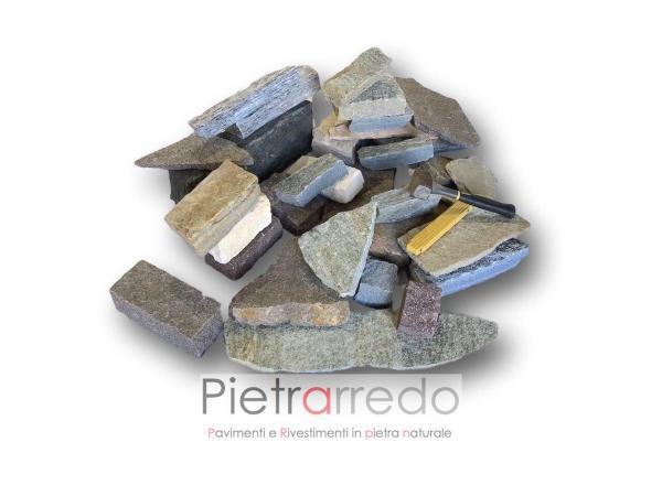sassi in blocchetti per muro in pietra a secco pietrarredo milano costo binderi masselli