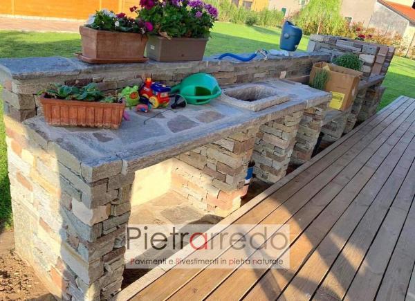 sasso rustico per la creazione di muro in pietra a secco prezzo al mq pietrarredo milano costo