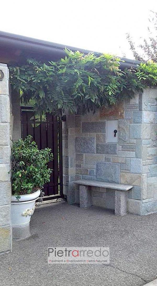 Rivestimento prezzo in pietra luserna cinta parete scozzese pietrarredo milano
