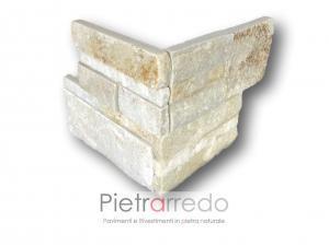 costi angolari e spigoli per pilastri archi rivestimento in pietra prezzo quarzite beige scozzese pietrarredo milano