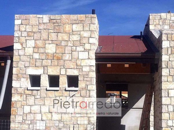 facciata in pietra rivestimento antiqua pietrarredo costo pietra trani scorza