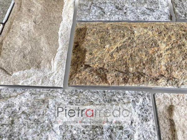 offerta e prezzo pietra luserna lati segati rivestimento superficie bugnata scozzese offerta pietrarredo milano