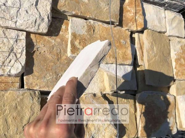 offerta rivestimento placche decorative in pietra naturale retrosegata antiqua scorza trani offerta pietrarredo