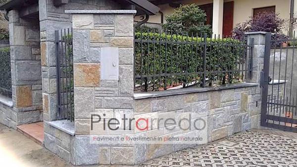 offerta rivestimento in pietra luserna colore misto pietrarredo milano piano bugnato scozzese muro facciata