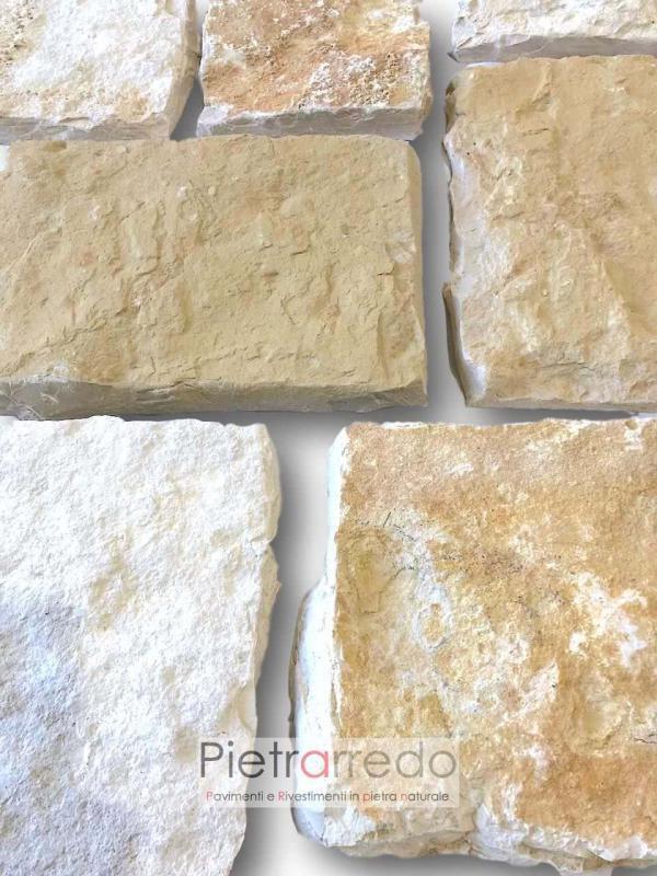 offerta rivestimento in pietra naturale beige misto scorza trani pietrarredo