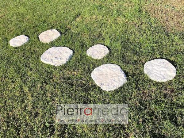 passi giapponesi bianchi in pietra naturale pietrarredo milano prezzo costo arredo giardino stone garden