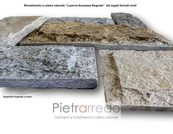 rivestimenti in pietra naturale luserna misto colore prezzo superficie piano cava bugnato scozzese