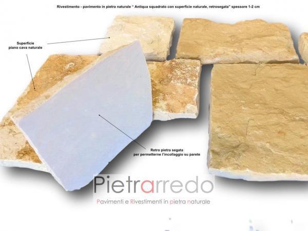rivestimento retrosegato pietra antiqua di trani scorza prezzo pietrarredo milano