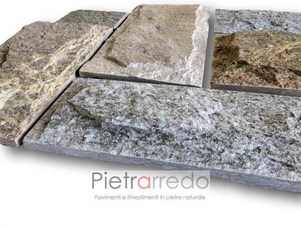 sconti rivestimento in pietra luserna piano cava lati segati bugnata prezzi pietrarredo milano