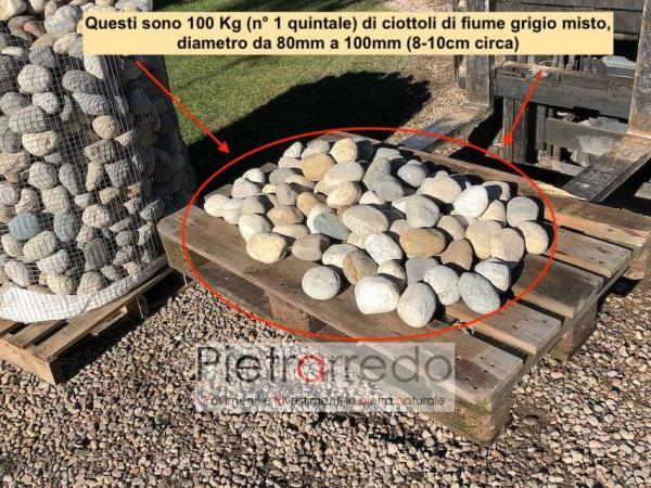100 kg di ciottolo prezzo sassi per arredo giardino giapponese roccioso pietrarredo