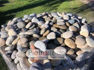 Ciottolo di fiume piatto ticino misto prezzo stone garden pebbles price piattina pietrarredo Milano