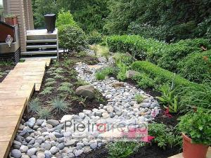 aiuola con sassi di fiume ciottoli grigio misto prezzo stone garden pietrarredo copia