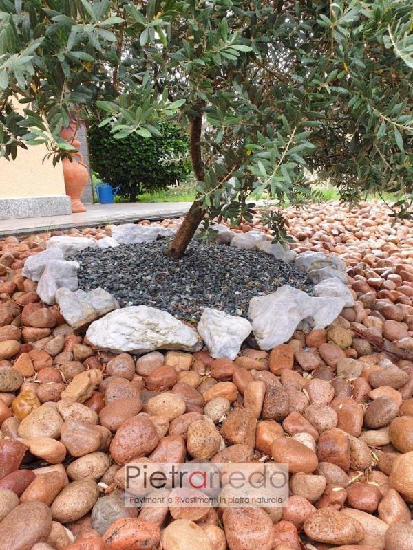 aiuole e decorazione giardino in stone river pink price pietrarredo milano