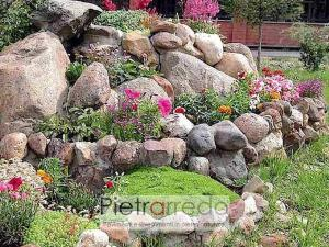 aiuole rocciose giardino ciottolo di fiume alluvionale ticino prezzo costo pietraredo stone garden pebbles