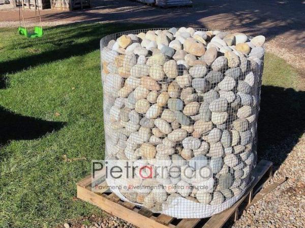 bancale di ciottoli di fiume prezzi pietrarredo sassi per argini laghetti ruscelli costo pietrarredo