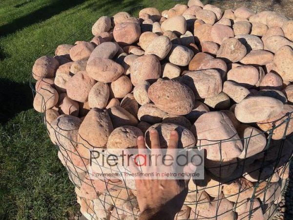 ciottolo di fiume alluvionale del ticino granito offerte per arredo giardino pink pebbles pietrarredo