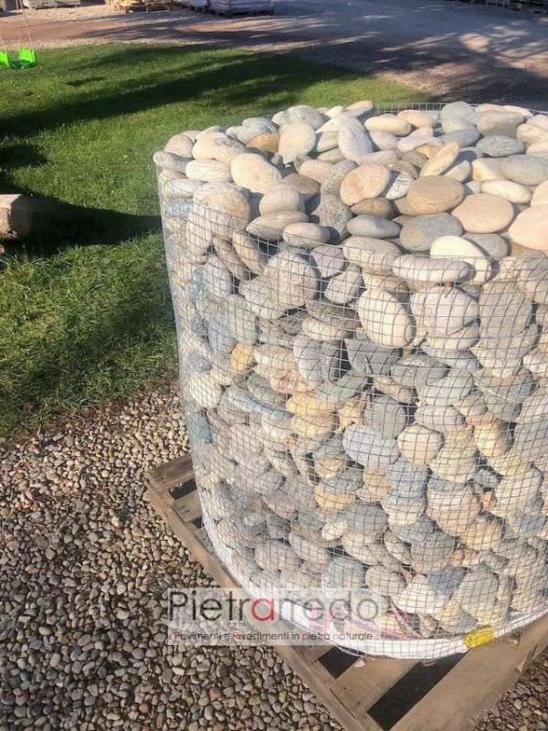 ciottolo di fiume piattina mista sasso piatto arredo giardino selciati offerte prezzi pietrarredo