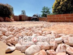 offerta ciottolo di marmo rosso verona 4-6cm per aiuole arredo giardino zandobbio stone garden pietrarredo