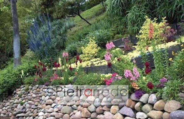 offerta ciottolo fiume sasso rotondo argine laghetto offerta pietrarredo milano stone garden