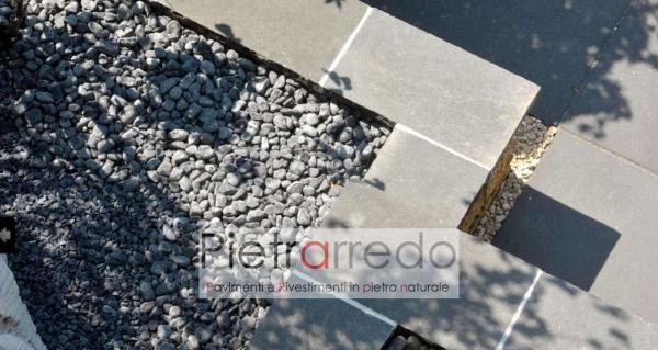 offerta e prezzo sassi per giardino giapponese nero ebano parabiago pietrarredo 40 60 mm diametro