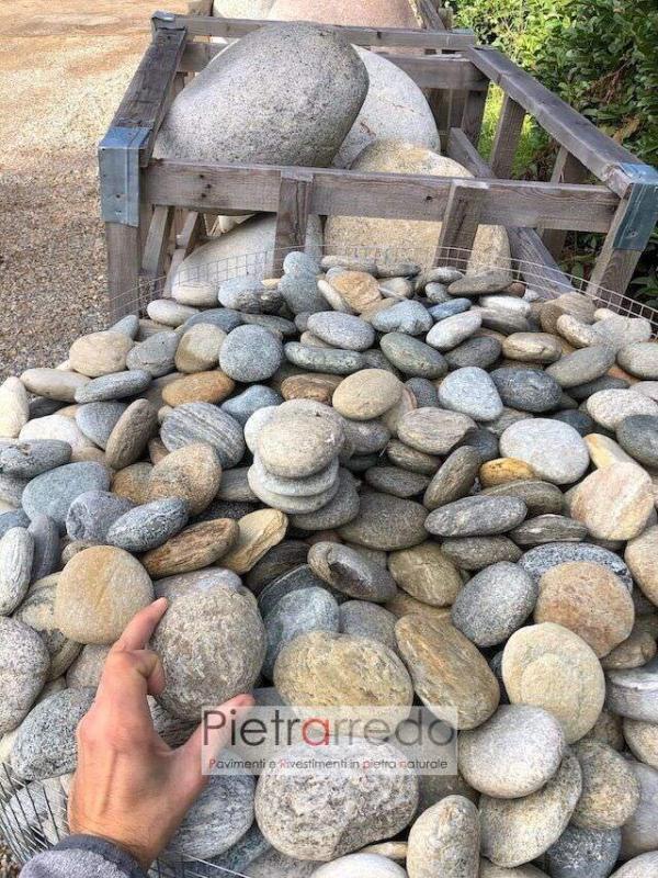 offerta piattine di fiume ticino prezzo pietraredo milano costo giardino roccioso zen giapponese pietrarredo