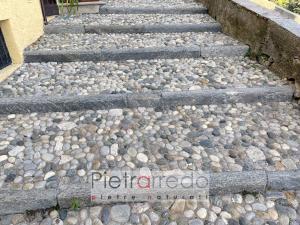 pavimento storico esterno con ciottolo fiume sassolini prezzo pietraredo milano
