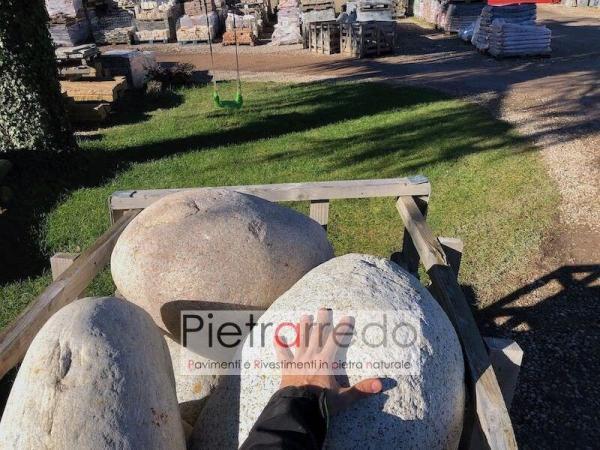 prezzo ciottoloni giganti sassi per giardino roccioso prezzo ticino di fiume pietrarredo milano