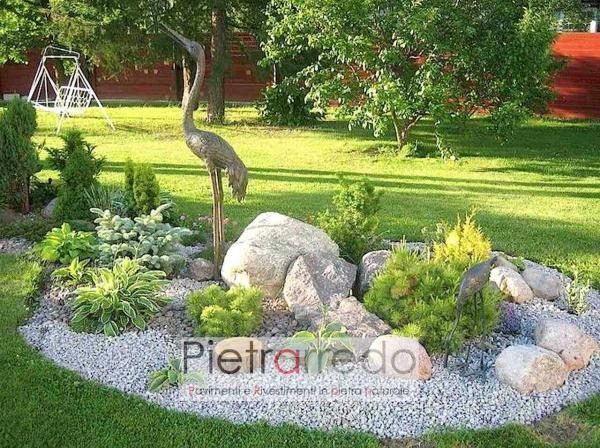 sassi ciottoli di fiume ticino arredo giardino stone deco pietrarredo prezzo milano