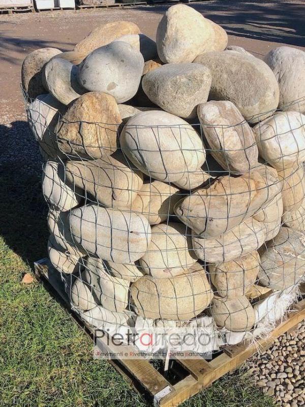 sassi ciottolo grande per giardino roccioso fontane ruscelli laghetti zen giapponese prezzo pietrarredo parabiago