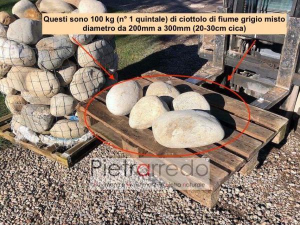 sassi rotondi di fiume ticino vendita prezzi offerte arigi laghi pebbles big stone pietrarredo
