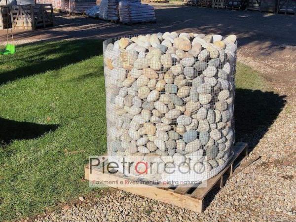 vendita sassi ciottoli di fiume grigio misto prezzo pietrarredo stone garden pietra pietrarredo