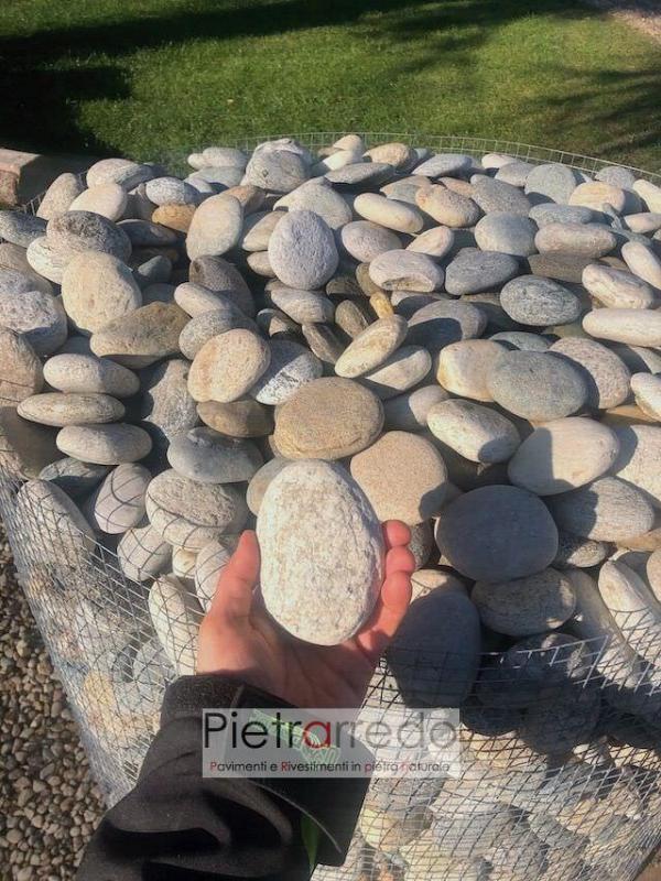 vendita sassi ciottoli di fiume piattine prezzi per pavimenti rivestimenti pietrarredo arredo giardino stone pebbles