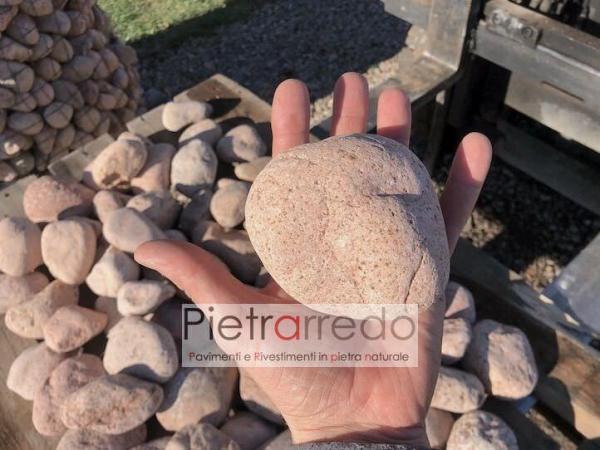 vendo ciottolo rosa di fiume ticino selezionato offerta roccioso sasso pietraredo