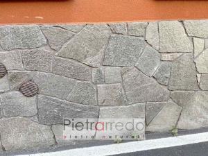 rivestimento in pietra naturale luserna mosaico sottile 1 2 cm blu grigio zoccolo casa prezzo pietrarredo milano