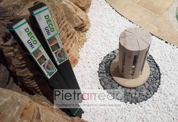 bordi in pvc plastica per aiuole arredo giardino stone garden divisori per sassolini pietrarredo milano prezzo