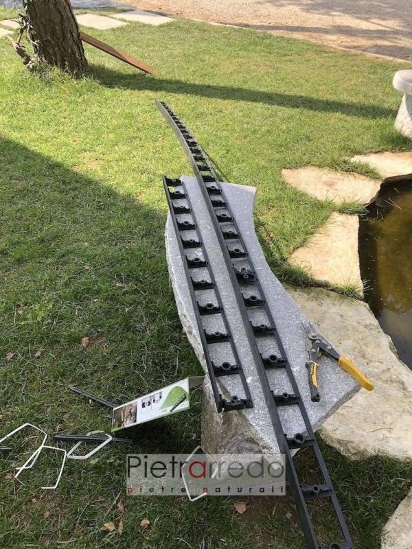 bordure cordoli per aiuole in plastica ribusti stona garden strisce per dividere ciottoli granulati prezzo pietrarredo milano parabiago