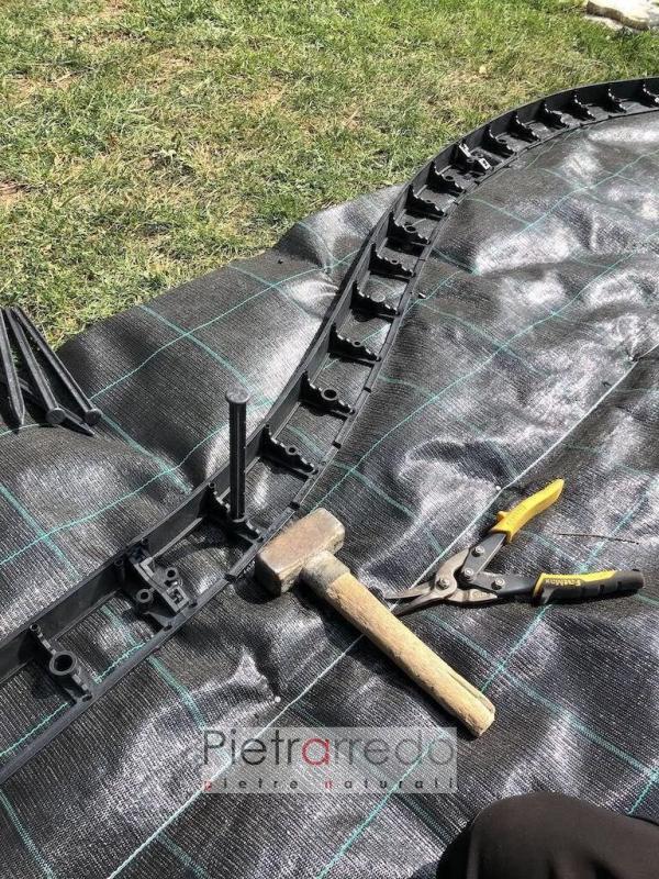 strisce aiuole bordure cordoli in pvc plastica offerte per roccioso ston garden prezzo pietrarredo
