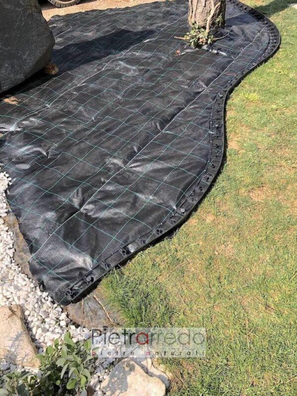 vendita strisce bordi bordure in pvc plastica per prati e giardini dicvisori sassolino ghiaia pietrarredo milano