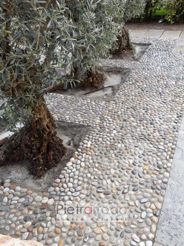 ciottolo 4-6 cm da pavimento posa pietrarredo mialno prezzo rizzada milano villa borromeo