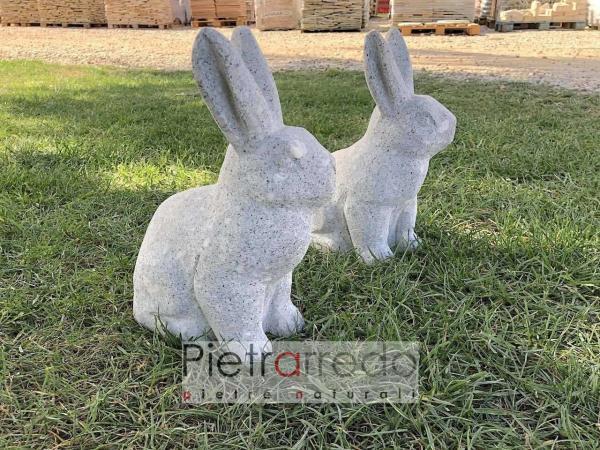 conigli in sasso pietra da giardino roccioso pietrarredo lepre prezzo
