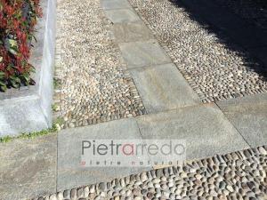pavimento classico con ciottolo di fiume rizzada pietrarredo milano