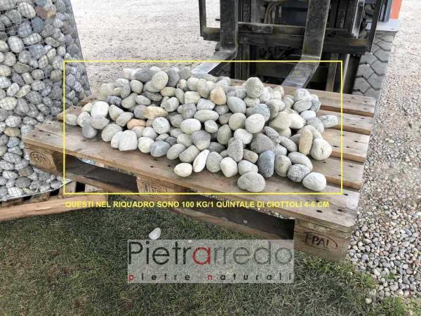 pavimento pietrarredo milano ciottolo fiume misto ticino 4cm 6 cm offerta e prezzo
