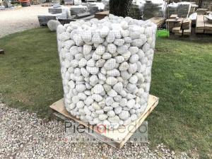 ciottolo offerta di fiume bianco quarzo pebbles white ticino sassolino 8-10 cm pietrarredo costo aiuole arredo giardino